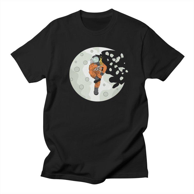 Space Drinkin Men's T-Shirt by Olsen & Sons