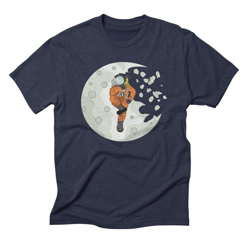 Space Drinkin Men's Triblend T-shirt by Olsen & Sons