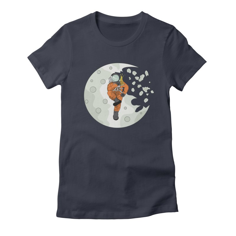 Space Drinkin Women's Fitted T-Shirt by Olsen & Sons
