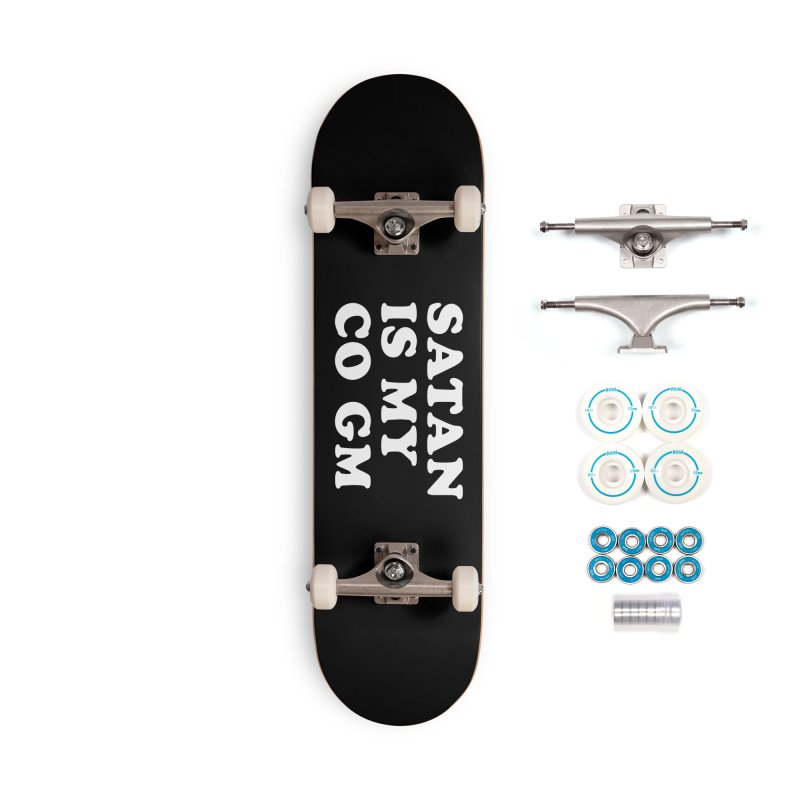 SATAN IS MY CO GM (wht) Accessories Complete - Basic Skateboard by VOID MERCH