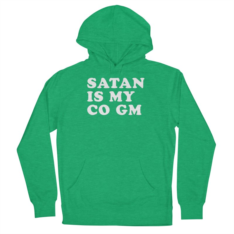 SATAN IS MY CO GM (wht) Men's French Terry Pullover Hoody by VOID MERCH