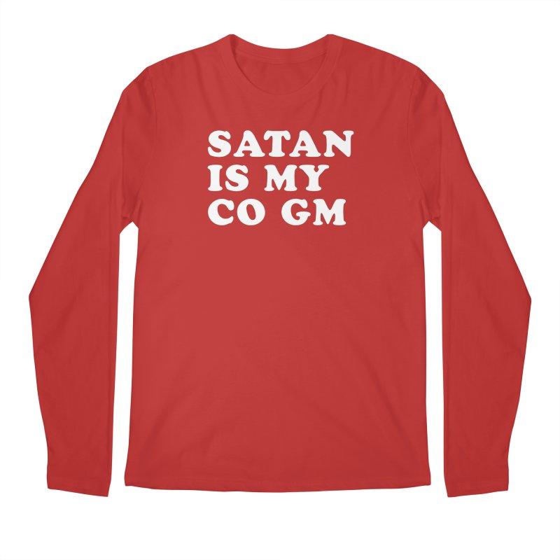 SATAN IS MY CO GM (wht) Men's Regular Longsleeve T-Shirt by VOID MERCH