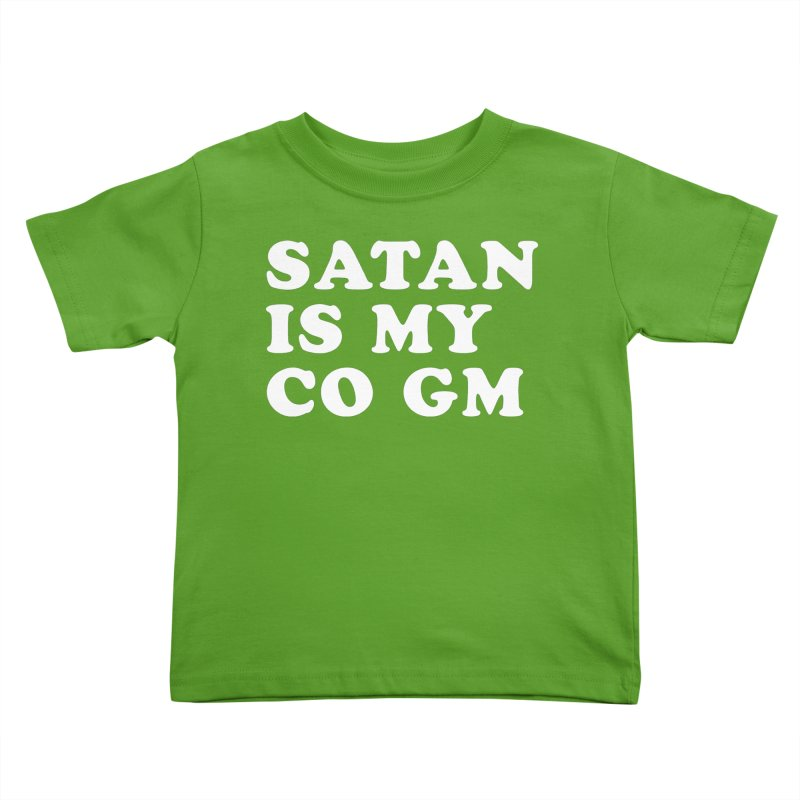 SATAN IS MY CO GM (wht) Kids Toddler T-Shirt by VOID MERCH