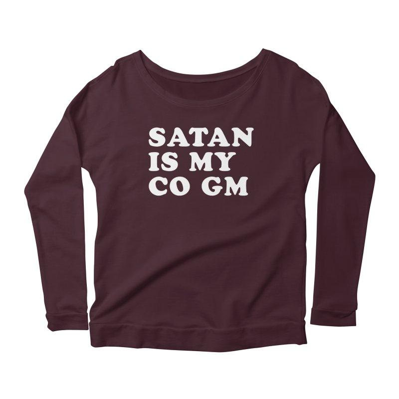 SATAN IS MY CO GM (wht) Women's Scoop Neck Longsleeve T-Shirt by VOID MERCH
