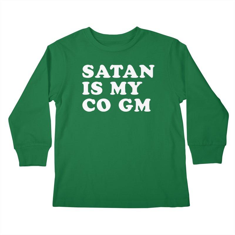 SATAN IS MY CO GM (wht) Kids Longsleeve T-Shirt by VOID MERCH