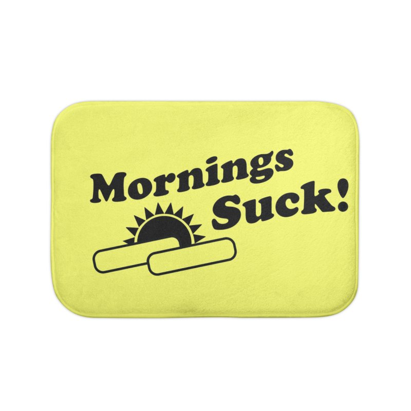Mornings Suck! (Ishii x Voidmerch) Home Bath Mat by VOID MERCH