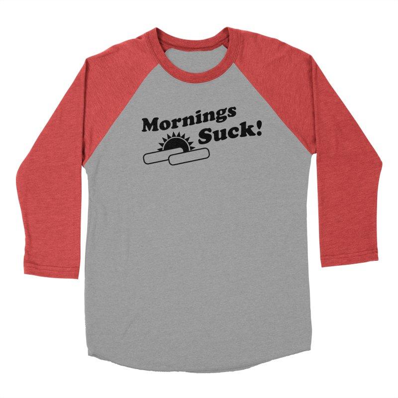 Mornings Suck! (Ishii x Voidmerch) Women's Baseball Triblend Longsleeve T-Shirt by VOID MERCH