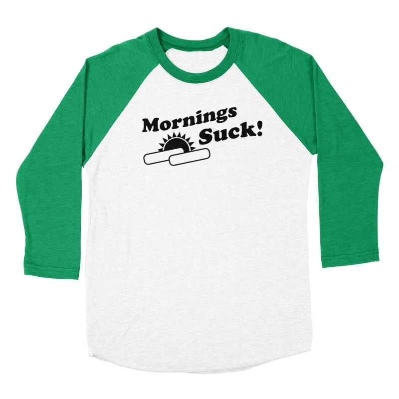 Mornings Suck! (Ishii x Voidmerch) Men's Baseball Triblend Longsleeve T-Shirt by VOID MERCH