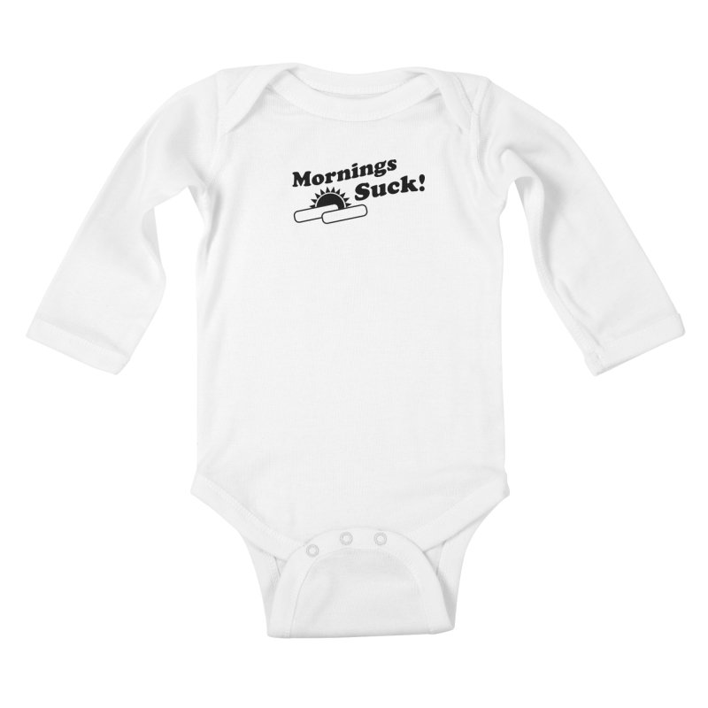 Mornings Suck! (Ishii x Voidmerch) Kids Baby Longsleeve Bodysuit by VOID MERCH