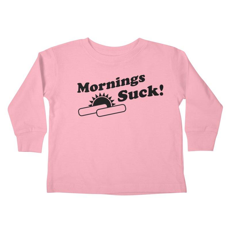 Mornings Suck! (Ishii x Voidmerch) Kids Toddler Longsleeve T-Shirt by VOID MERCH
