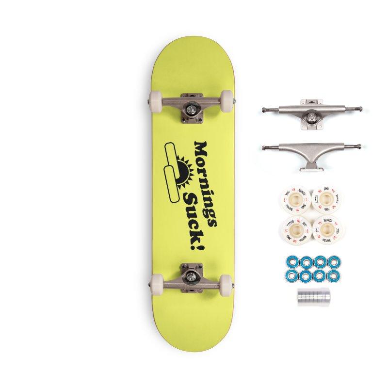 Mornings Suck! (Ishii x Voidmerch) Accessories Complete - Premium Skateboard by VOID MERCH