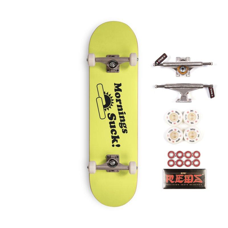 Mornings Suck! (Ishii x Voidmerch) Accessories Complete - Pro Skateboard by VOID MERCH