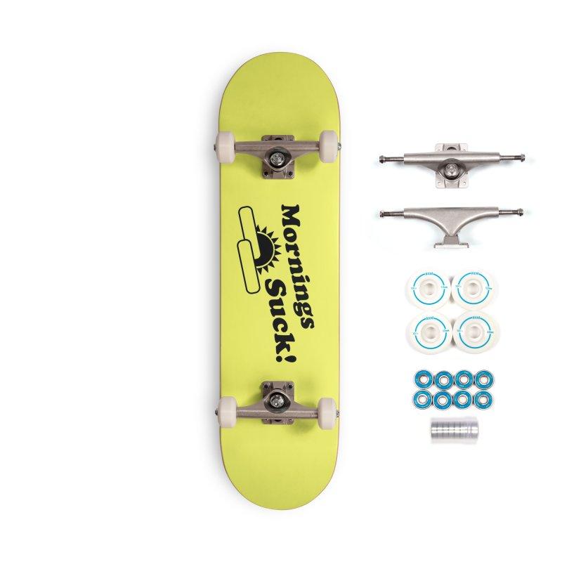 Mornings Suck! (Ishii x Voidmerch) Accessories Complete - Basic Skateboard by VOID MERCH