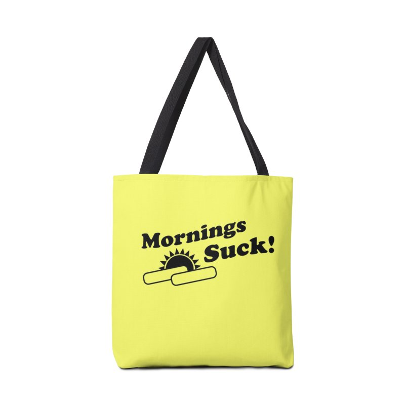 Mornings Suck! (Ishii x Voidmerch) Accessories Tote Bag Bag by VOID MERCH