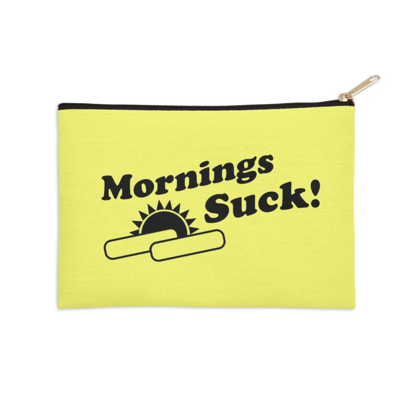 Mornings Suck! (Ishii x Voidmerch) Accessories Zip Pouch by VOID MERCH