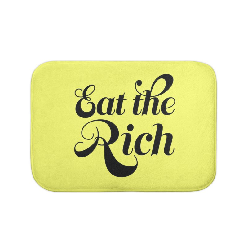 Eat the Rich (Ishii x Voidmerch) blk Home Bath Mat by VOID MERCH