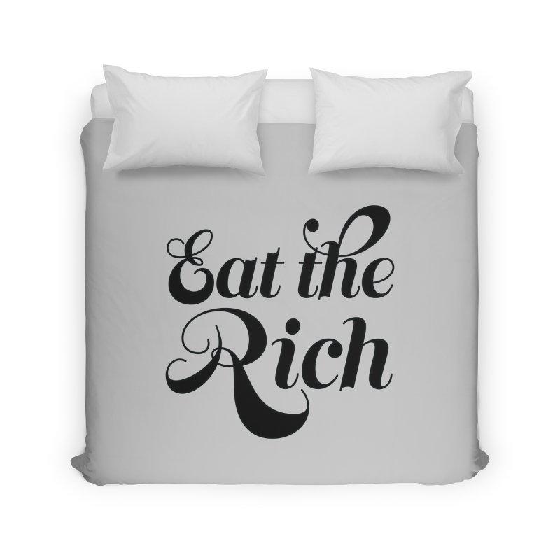 Eat the Rich (Ishii x Voidmerch) blk Home Duvet by VOID MERCH