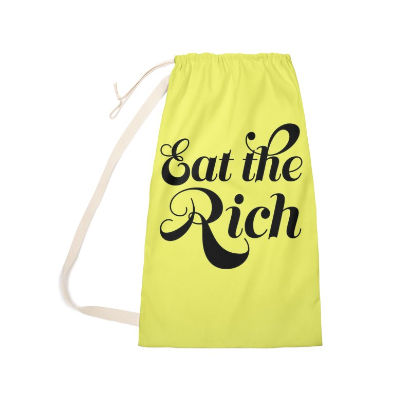 Eat the Rich (Ishii x Voidmerch) blk Accessories Laundry Bag Bag by VOID MERCH