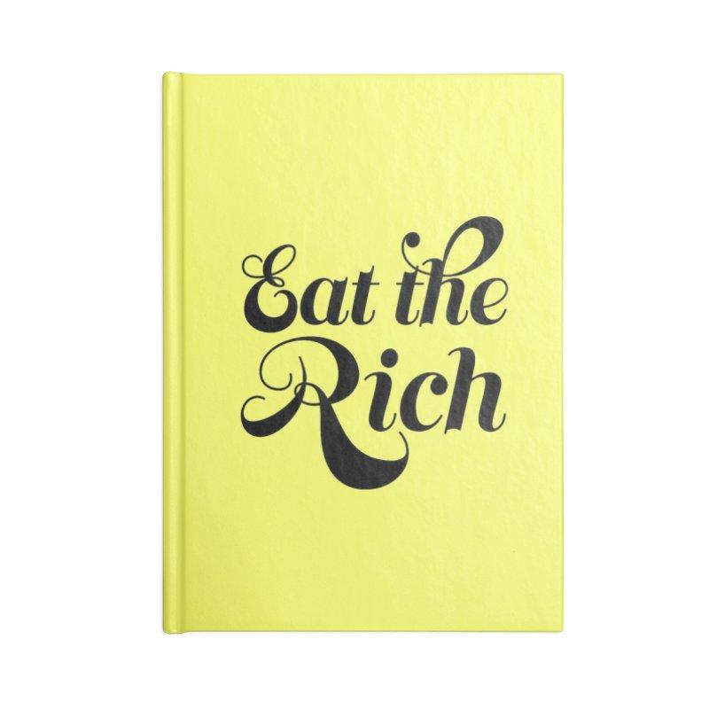 Eat the Rich (Ishii x Voidmerch) blk Accessories Lined Journal Notebook by VOID MERCH