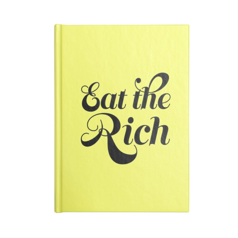 Eat the Rich (Ishii x Voidmerch) blk Accessories Blank Journal Notebook by VOID MERCH