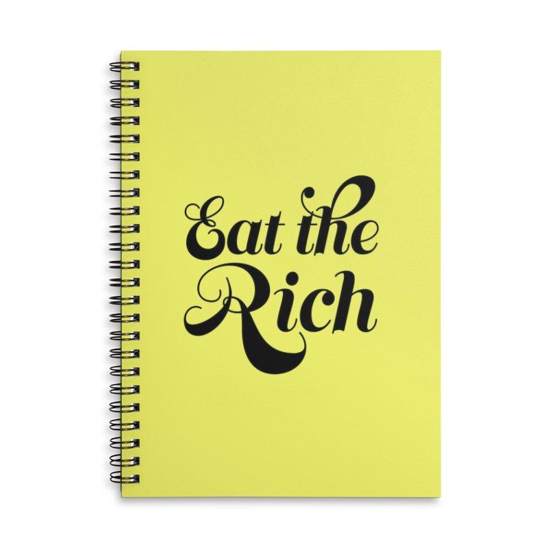 Eat the Rich (Ishii x Voidmerch) blk Accessories Lined Spiral Notebook by VOID MERCH