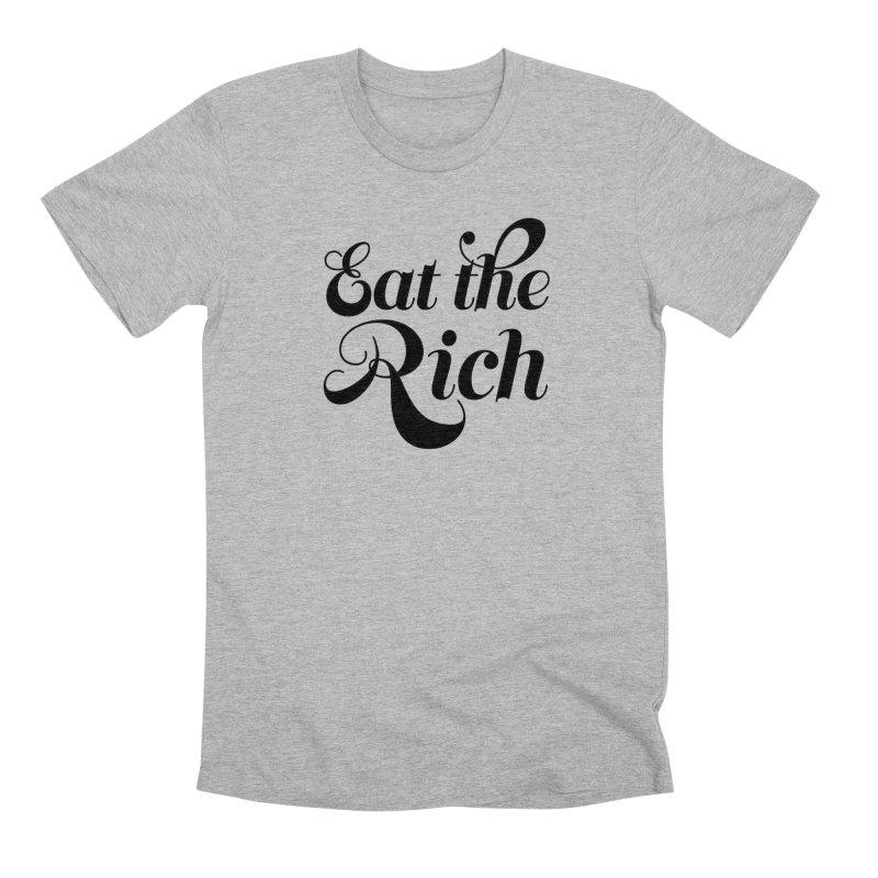 Eat the Rich (Ishii x Voidmerch) blk in Men's Premium T-Shirt Heather Grey by VOID MERCH