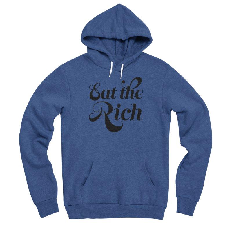 Eat the Rich (Ishii x Voidmerch) blk Women's Sponge Fleece Pullover Hoody by VOID MERCH
