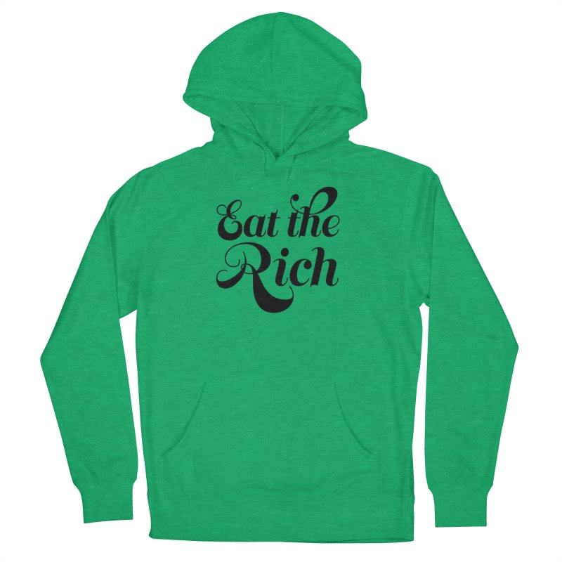 Eat the Rich (Ishii x Voidmerch) blk Men's French Terry Pullover Hoody by VOID MERCH