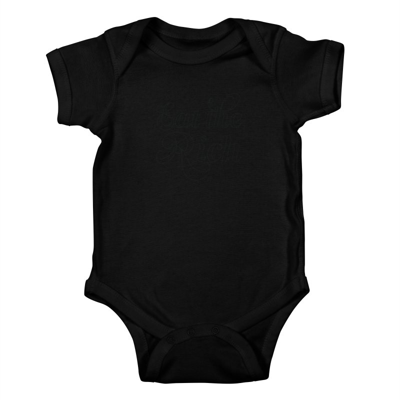 Eat the Rich (Ishii x Voidmerch) blk Kids Baby Bodysuit by VOID MERCH
