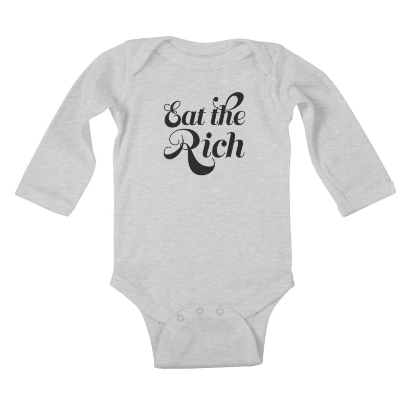 Eat the Rich (Ishii x Voidmerch) blk Kids Baby Longsleeve Bodysuit by VOID MERCH