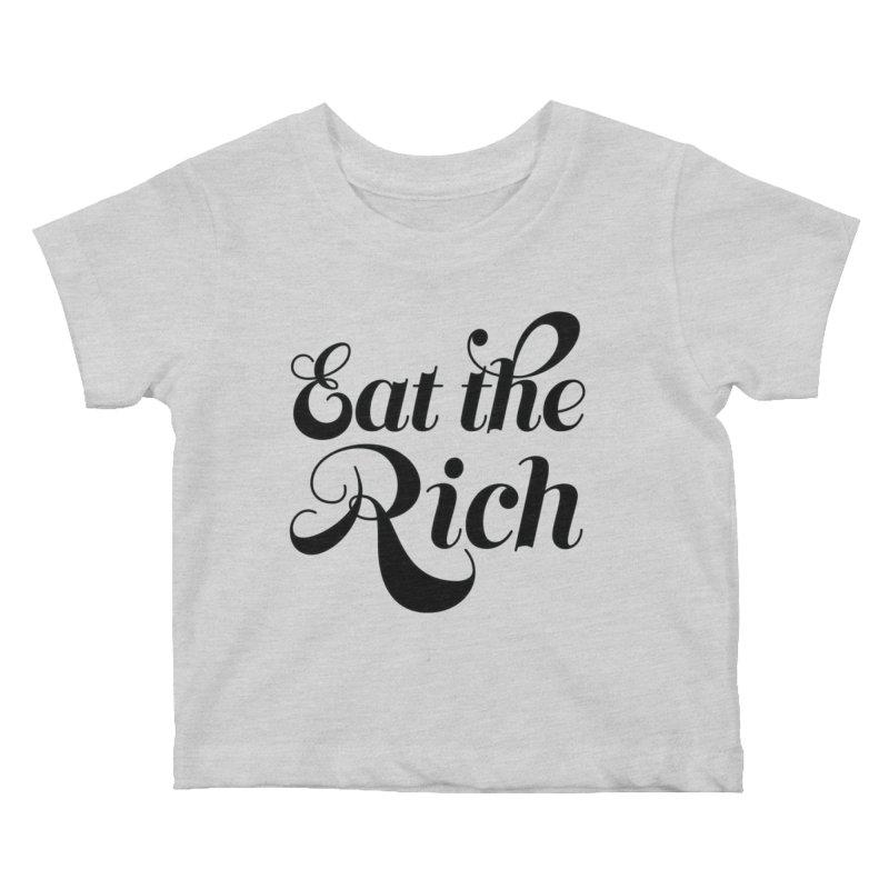 Eat the Rich (Ishii x Voidmerch) blk Kids Baby T-Shirt by VOID MERCH