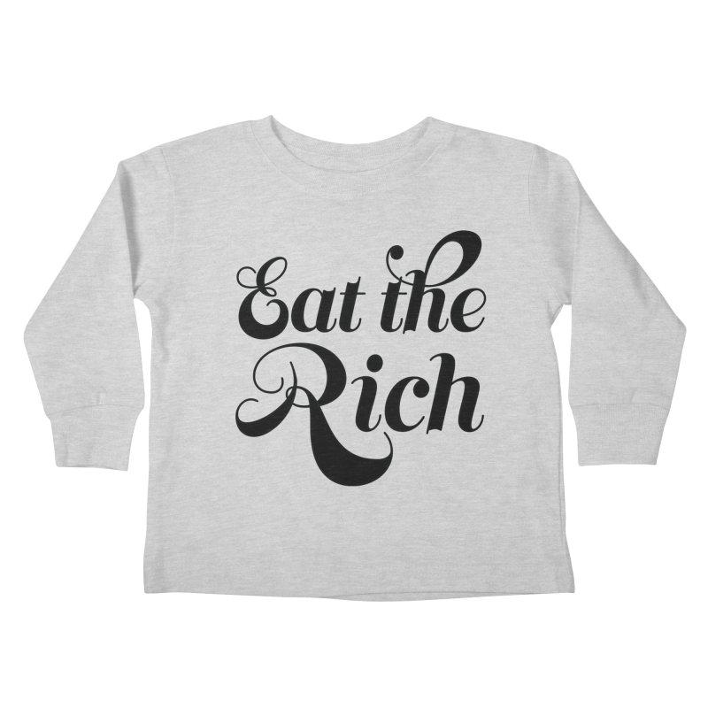 Eat the Rich (Ishii x Voidmerch) blk Kids Toddler Longsleeve T-Shirt by VOID MERCH