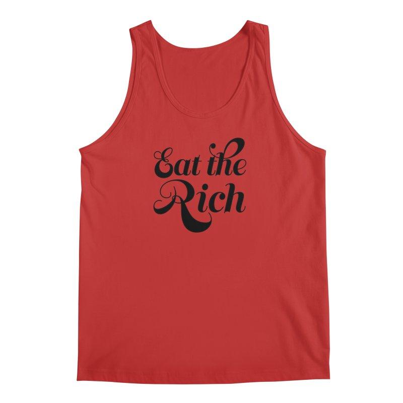Eat the Rich (Ishii x Voidmerch) blk Men's Regular Tank by VOID MERCH