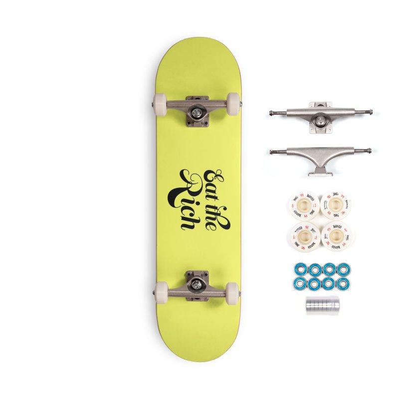 Eat the Rich (Ishii x Voidmerch) blk Accessories Complete - Premium Skateboard by VOID MERCH