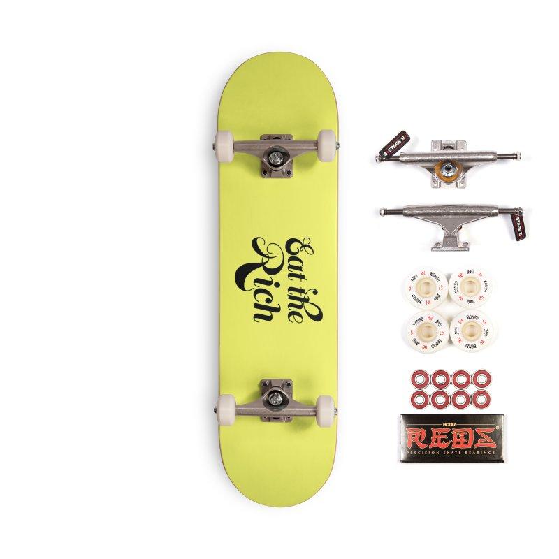Eat the Rich (Ishii x Voidmerch) blk Accessories Complete - Pro Skateboard by VOID MERCH