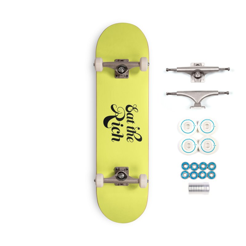 Eat the Rich (Ishii x Voidmerch) blk Accessories Complete - Basic Skateboard by VOID MERCH