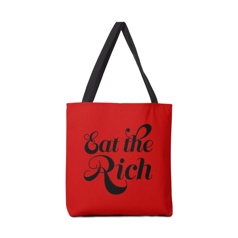 Eat the Rich (Ishii x Voidmerch) blk Accessories Tote Bag Bag by VOID MERCH