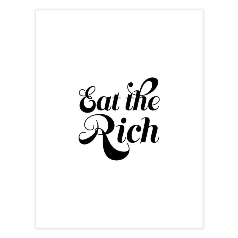 Eat the Rich (Ishii x Voidmerch) blk Home Fine Art Print by VOID MERCH