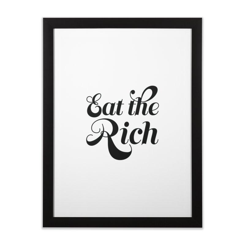 Eat the Rich (Ishii x Voidmerch) blk Home Framed Fine Art Print by VOID MERCH