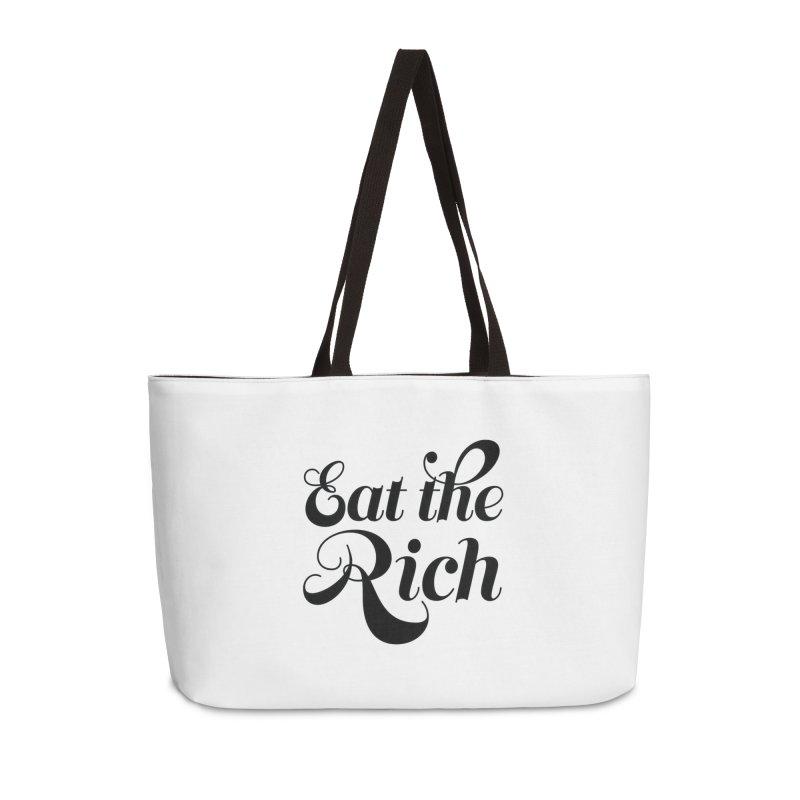 Eat the Rich (Ishii x Voidmerch) blk Accessories Weekender Bag Bag by VOID MERCH