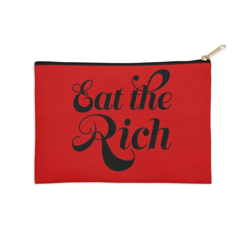 Eat the Rich (Ishii x Voidmerch) blk Accessories Zip Pouch by VOID MERCH