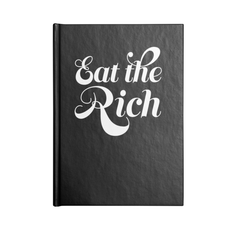 Eat the Rich (Ishii x Voidmerch) wht Accessories Blank Journal Notebook by VOID MERCH