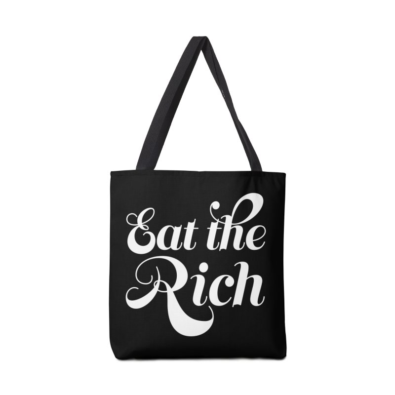 Eat the Rich (Ishii x Voidmerch) wht Accessories Tote Bag Bag by VOID MERCH