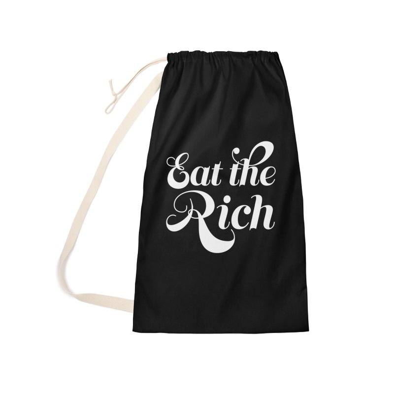 Eat the Rich (Ishii x Voidmerch) wht Accessories Laundry Bag Bag by VOID MERCH