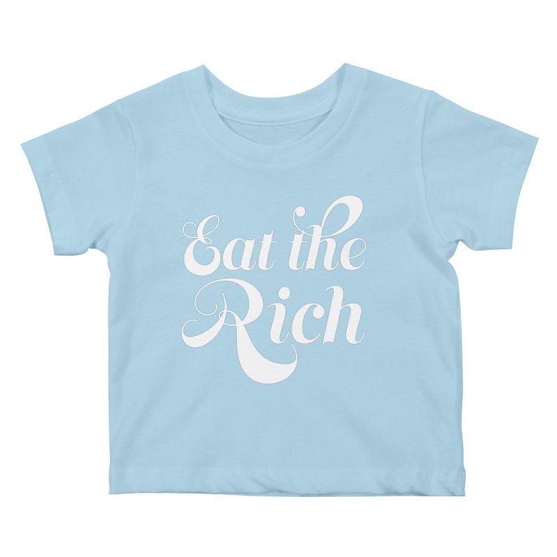 Eat the Rich (Ishii x Voidmerch) wht Kids Baby T-Shirt by VOID MERCH