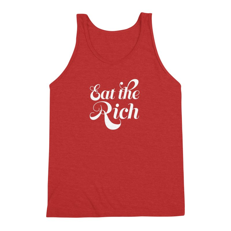 Eat the Rich (Ishii x Voidmerch) wht Men's Triblend Tank by VOID MERCH
