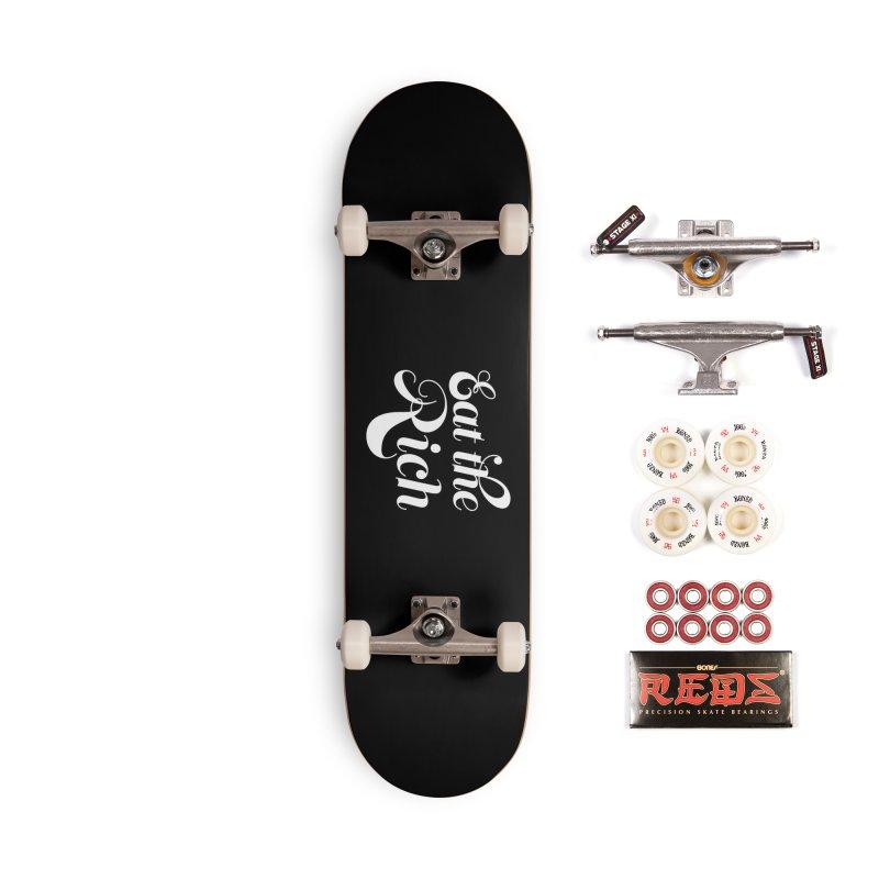 Eat the Rich (Ishii x Voidmerch) wht Accessories Complete - Pro Skateboard by VOID MERCH
