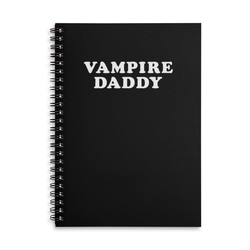 Vampire Daddy (wht) Ishii x Voidmerch Accessories Lined Spiral Notebook by VOID MERCH
