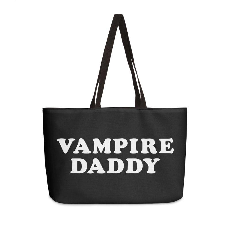 Vampire Daddy (wht) Ishii x Voidmerch Accessories Weekender Bag Bag by VOID MERCH