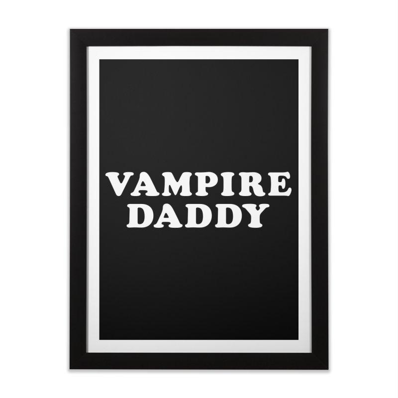 Vampire Daddy (wht) Ishii x Voidmerch Home Framed Fine Art Print by VOID MERCH